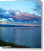Sunrise Over Lake Yellowstone Metal Print