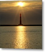 Sunrise Over Morris Island Lighthouse Metal Print