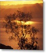 Sunrise Over Mount Nebo In Jordan Metal Print by Richard Nowitz