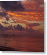 Sunrise Over The Caribean Metal Print