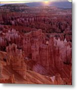 Sunrise Over The Hoodoos Bryce Canyon National Park Metal Print