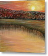 Sunrise Over The Marsh Metal Print