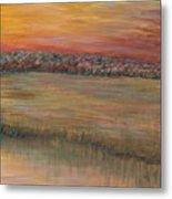 Sunrise Over The Marsh Part II Metal Print