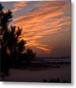 Sunrise Over The Mist Metal Print by Douglas Barnett