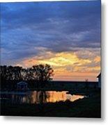 Sunrise Over The Pond Metal Print