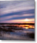 Sunrise Over The Salt Marsh Metal Print