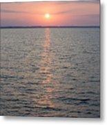 Sunrise Over The Sea Horizon Metal Print