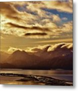 Sunrise Over The Spit Metal Print