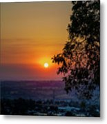 Sunrise Over The Valley Metal Print