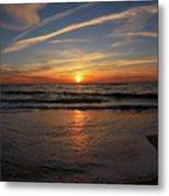Sunrise Over The Waves Metal Print