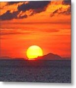 Sunrise Over Western Cuba Metal Print