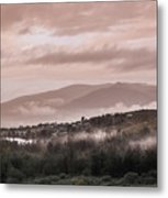 Sunrise Pink Over Tlacolula Valley Metal Print