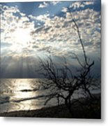 Sunrise Prayer On The Beach Metal Print