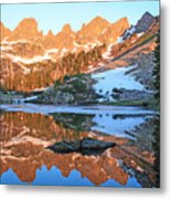 Sunrise Reflection At Willow Lakes Metal Print