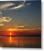 Sunrise Reflection Metal Print