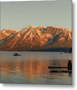 Sunrise Reflections On Colter Bay Metal Print