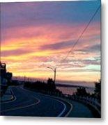 Sunrise Road Metal Print