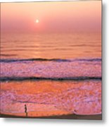 Sunrise Run Metal Print