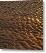 Sunrise Sand Patterns At Hunting Island Metal Print