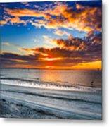 Sunrise Serenades The Beach Metal Print