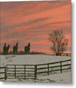 Sunrise Silhouettes Metal Print
