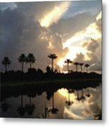 Sunrise Storm Metal Print