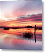 Sunrise Sunset Art Photo - Sailing By Jo Ann Tomaselli    Metal Print