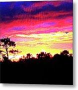 Sunrise Sunset Delight Or Warning Metal Print