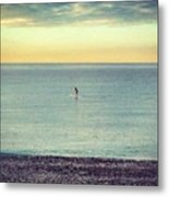 Sunrise Surfing Metal Print