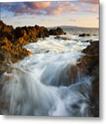 Sunrise Surge Metal Print