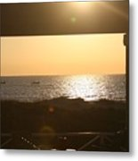 Sunrise Through The Pavilion Metal Print