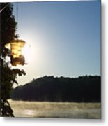 Sunrise Thru The Feeder Metal Print