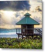 Sunrise Tower At The Beach Metal Print