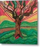 Sunrise Treeair Metal Print