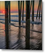 Sunrise Under The Pier Metal Print