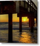 Sunrise Under The Pier  Metal Print