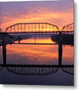 Sunrise Walnut Street Bridge 2 Metal Print by Tom and Pat Cory