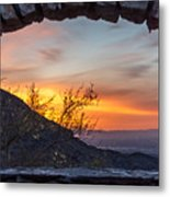 Sunrise Window - Phoenix Arizona Metal Print