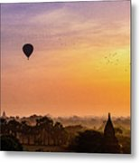 Sunrise With Balloons Metal Print