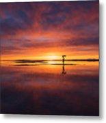 Sunrise Yoga Metal Print