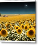 Suns And A Moon Metal Print