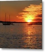 Sun's Up Provincetown Pier 3 Metal Print