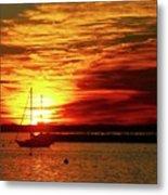Sun's Up Provincetown Pier 4 Metal Print
