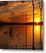 sunset @ Reservoir Metal Print