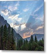 Sunset 1 Yosemite  Metal Print