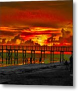 Sunset 4th Of July Metal Print