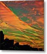 Sunset Above City After A Thunder-storm Metal Print