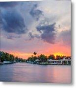 Sunset Across The Gulf Stream Metal Print