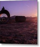 Sunset Admiration Metal Print
