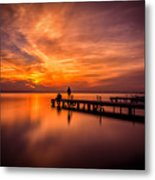 Sunset Albufera 2 Metal Print